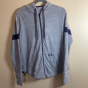 Under Armour Grey Zip-Up Hoodie Small